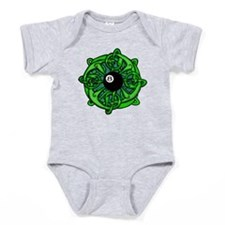 Irish 8 Ball Pool Player St Patricks Baby Bodysuit