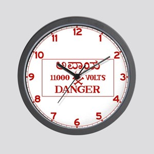 Danger 11,000 Volts, India Wall Clock
