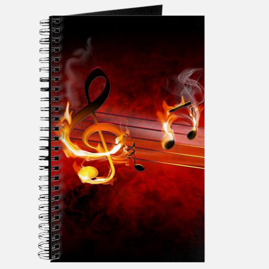 Hot Music Notes Journal