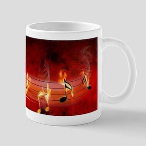 Hot Music Notes Mug