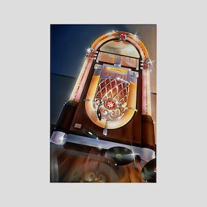 Classic Jukebox Rectangle Magnet