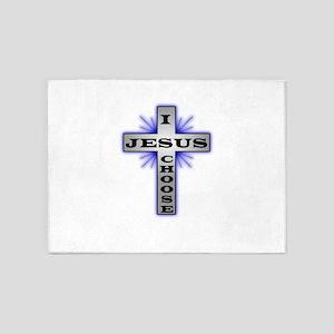 I Choose Jesus 5'x7'Area Rug