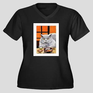 "Sushi Cat ""Big Fred"" Plus Size T-Shirt"