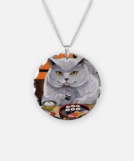 """Sushi Cat """"Big Fred"""" Necklace"""