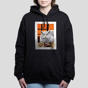 """Sushi Cat """"Big Fred"""" Women's Hooded Sweatshirt"""