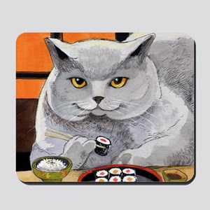 "Sushi Cat ""Big Fred"" Mousepad"