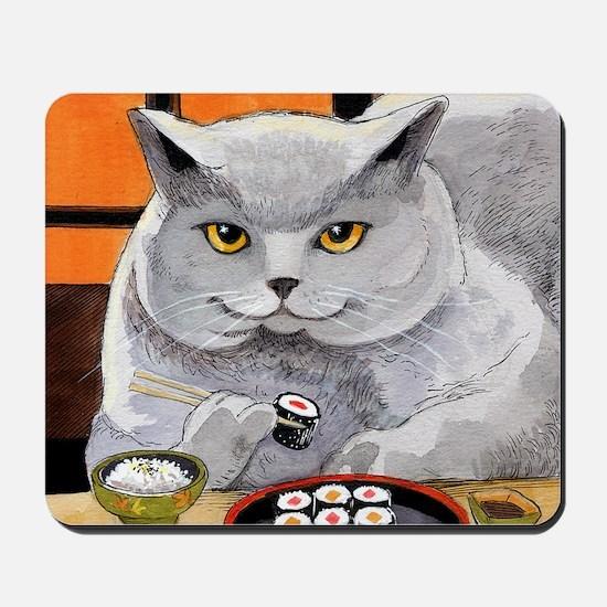 """Sushi Cat """"Big Fred"""" Mousepad"""