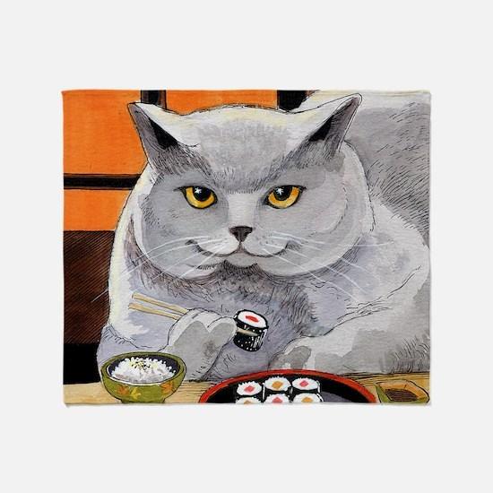 "Sushi Cat ""Big Fred"" Throw Blanket"