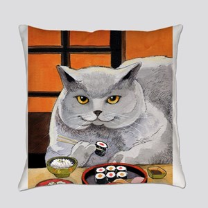 "Sushi Cat ""Big Fred"" Everyday Pillow"