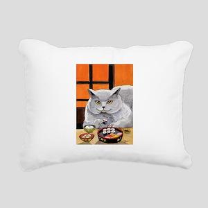 "Sushi Cat ""Big Fred"" Rectangular Canvas Pillow"
