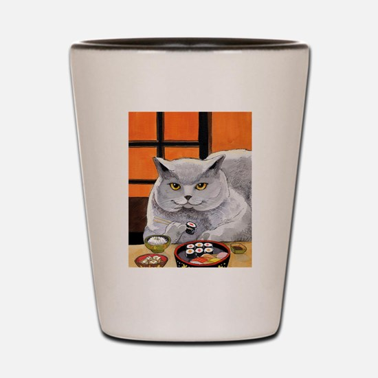 "Sushi Cat ""Big Fred"" Shot Glass"