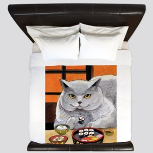 "Sushi Cat ""Big Fred"" King Duvet"