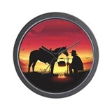 Cowboy Wall Clocks
