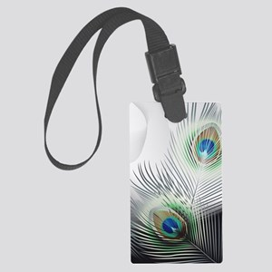 Peacock Feather Fantasy Large Luggage Tag