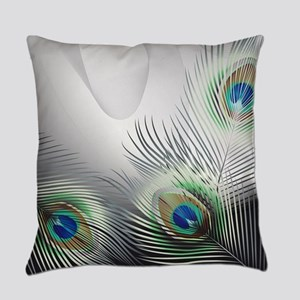 Peacock Feather Fantasy Everyday Pillow