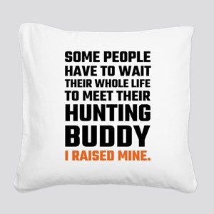 Hunting Buddy Father Son Square Canvas Pillow