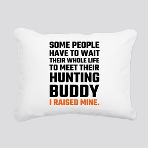 Hunting Buddy Father Son Rectangular Canvas Pillow