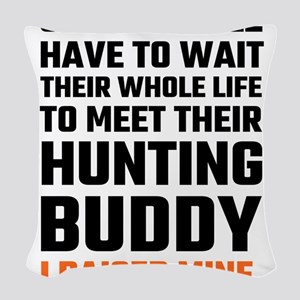 Hunting Buddy Father Son Woven Throw Pillow