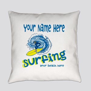 Surfing Everyday Pillow