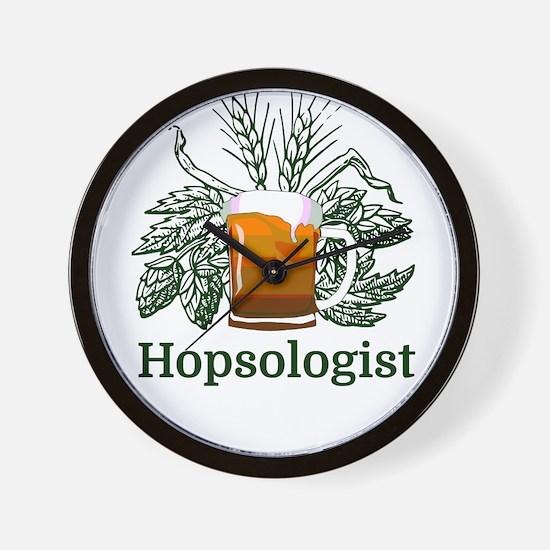 Hopsologist Wall Clock