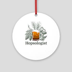 Hopsologist Round Ornament