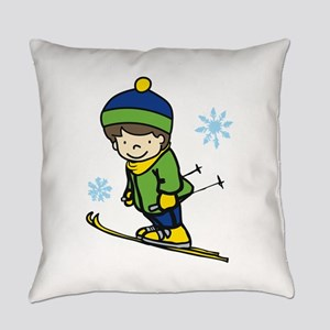 Boy Ski Jumping Everyday Pillow
