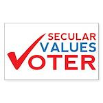 Secular Values Voter Sticker