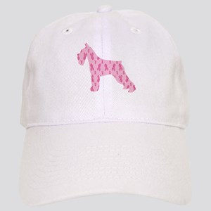 Pink Ribbon Schnauzer for Cancer Baseball Cap
