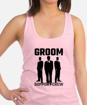 Groom Support Crew Racerback Tank Top