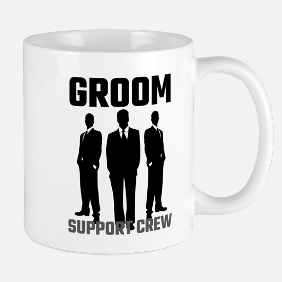 Groom Support Crew Mugs
