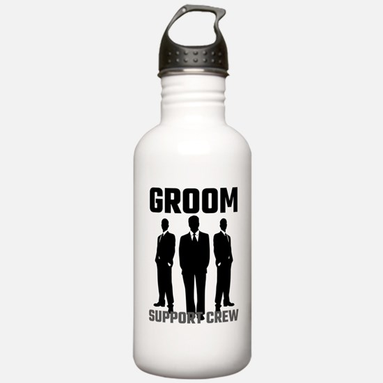 Groom Support Crew Sports Water Bottle