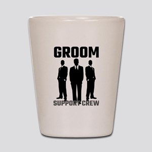 Groom Support Crew Shot Glass