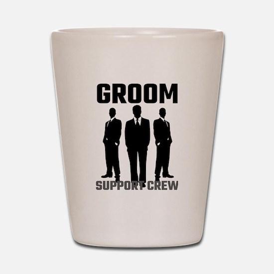 Groom Support Crew Shot Glass