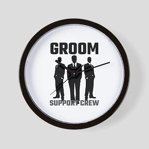 Groom Support Crew Wall Clock