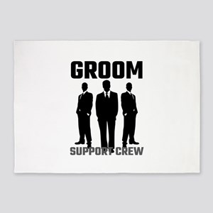 Groom Support Crew 5'x7'Area Rug