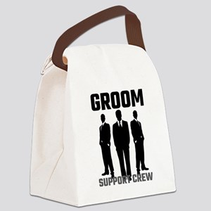 Groom Support Crew Canvas Lunch Bag