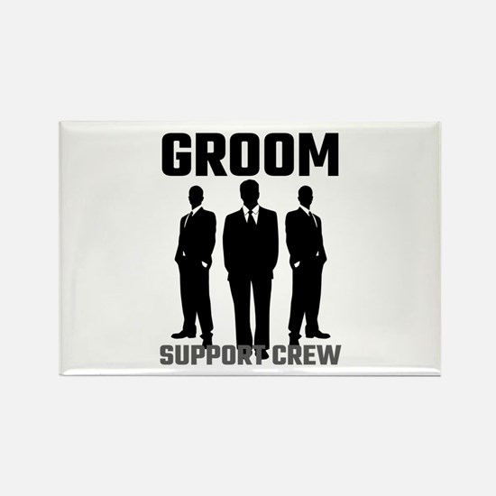Groom Support Crew Magnets