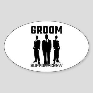 Groom Support Crew Sticker