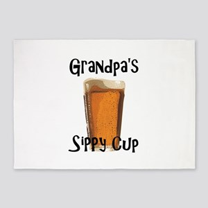 Grandpa's Sippy Cup 5'x7'Area Rug