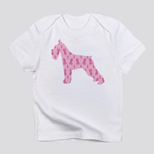 Pink Ribbon Schnauzer for Cancer Infant T-Shirt