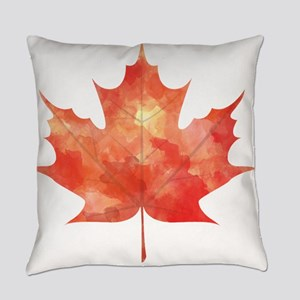 Maple Leaf Art Everyday Pillow