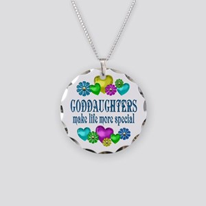 Goddaughters More Special Necklace Circle Charm