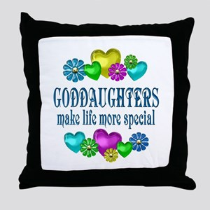 Goddaughters More Special Throw Pillow