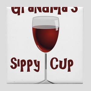Grandma's Sippy Cup Tile Coaster