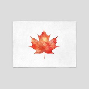Maple Leaf Art 5'x7'Area Rug