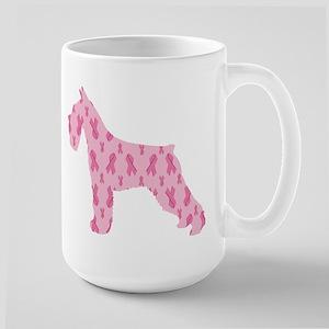 Pink Ribbon Schnauzer for Cancer Mugs