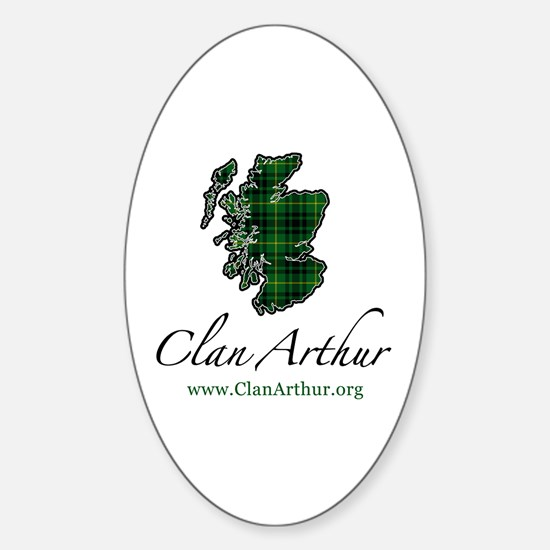 Clan Arthur Map - Oval Decal