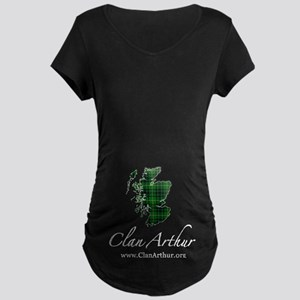 Clan Arthur Map - Maternity Dark T-Shirt