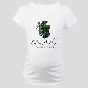 Clan Arthur Map - Maternity T-Shirt