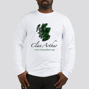 Clan Arthur Map - Long Sleeve T-Shirt